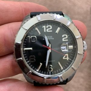 Guess Stainless Steel Watch with black band